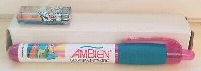 New VERY RARE Hot Pink AMBIEN Light PEN Drug Rep Pharmaceutical Collectible