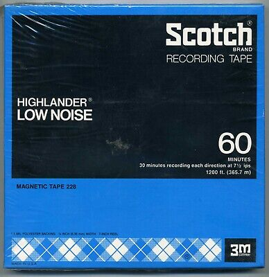 NEW SEALED Scotch Open Reel Recording Tape #228 Highlander 1200 ft.