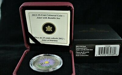 2012 Canada  ¨Aster And Bumble Bee¨  Twenty-Five Cents  ¤¤ Specimen Finish ¤¤