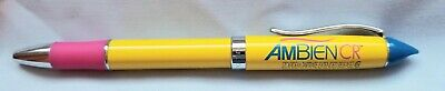 New VERY RARE Drug Rep Yellow AMBIEN CR Ink Pen Pharmaceutical Collectible METAL