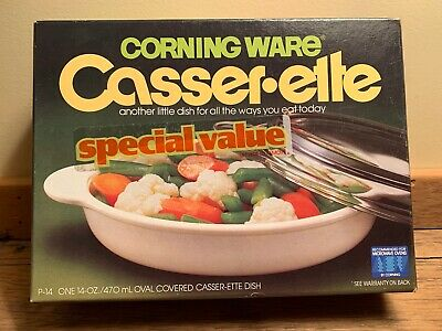 Vintage Corning Ware P-14 Casser-ette 14 oz. UNOPENED! NEVER USED!