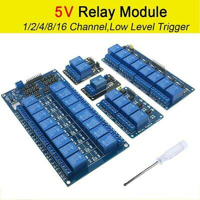 1 2 4 Channel 5V Relay Shield Module Board for Arduino Raspberry Pi ARM Module
