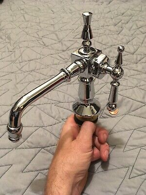 19th Century style Stunning Unique Brass Chrome Plated (Heavy) Faucet Set