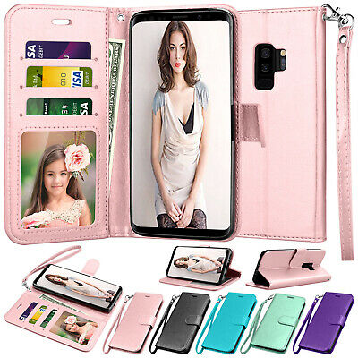 For Samsung Galaxy S7 S9 S10 Plus Note 9 Wallet Case Flip Leather Stand Cover