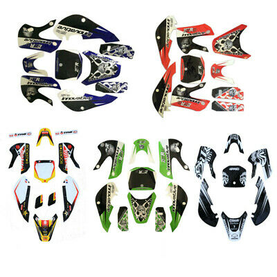 Kawasaki KLX 110 KX 65 Suzuki DRZ 110 RM65 Body Plastic Fairing Sticker Kit