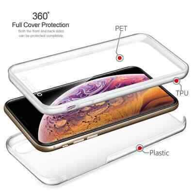 360 Case For IPhone 11 Pro XS Max XR 7/6 Plus Clear Front TPU+Hard PC Back Cover