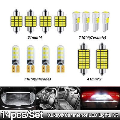 XUKEY T10 C5W C10W 501 168 Car Interior Map Cabin Reading Light Replacement Kit