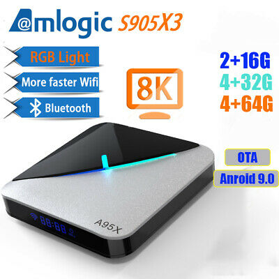 A95X air Android 9.0 4GB / 64GB 8K 4K Set Top TV Box Amlogic S905X3 Media Playe