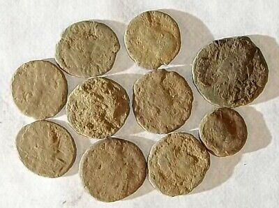 10 ANCIENT ROMAN COINS AE3 - Uncleaned and As Found! - Unique Lot 25704