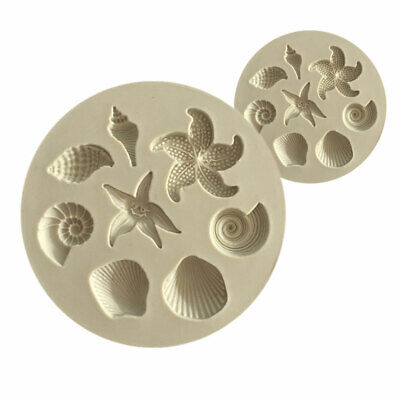 Seashell Starfish Conch Silicone Fondant Cake Tool Chocolate Candy Jelly Model
