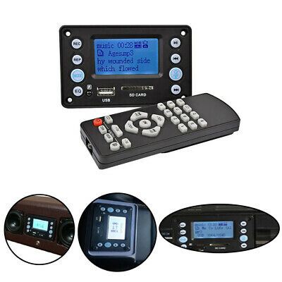 12V MP3 Player Audio Module Memory Function WMA Receiver Decoder Board Car Kit