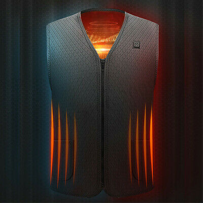 Mens Womens TOP Electric USB Heated Warm Vest Heating Coat Jacket Thermal Skiing