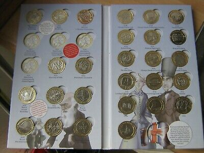Royal Mint Great British Coin Hunt £2 Pound Album With 27 Coins  Near Complete