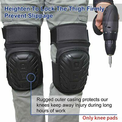 1Pair Outdoor Protective Gear Knee Pad Cushion Safety Kneelet PVC Shell