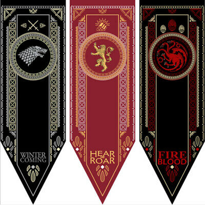 Game Of Thrones Flag Banner Kids Collectible Wall Printed decor free shipping