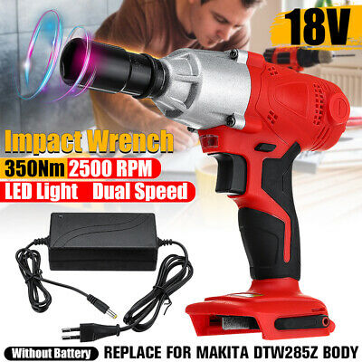 18V 350Nm Cordless Brushless Electric Impact Wrench For Makita Battery DTW285Z