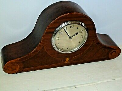 Vintage 8 day inlaid mantel clock