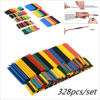 328pcs Heat Shrink Tubing Tube Assortment 2:1 Wire Cable Insulation Sleeving Kit