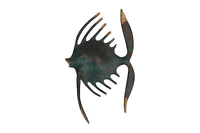 A vintage small brass fish sculpture Mid century Unusual