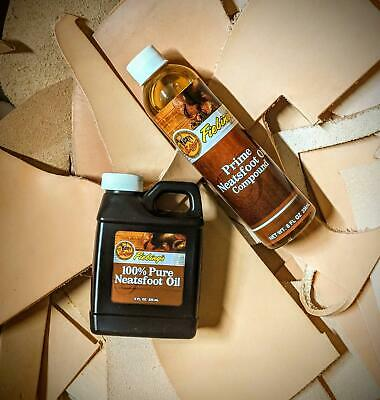 Fiebings Pure or Prime Neatsfoot Oil Compound Leather Craft 8oz