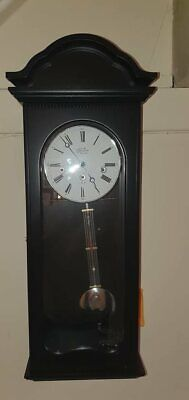 Modern Black Westmister Chimes Wall Clock Hermle Wind Up Type Lovely Clock