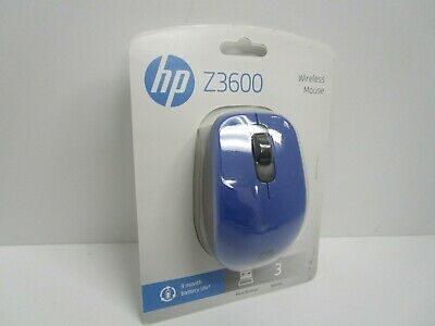 New Sealed - HP Z3600 Wireless Optical Mouse - Blue - J1B52AA#ABA