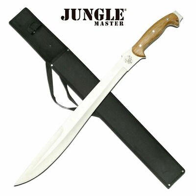 New Jungle Master Premium Stainless Steel Full Tang Fixed Blade Machete Knife