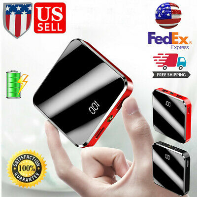 Mini Power Bank 50000mAh USB Battery Charger LCD Digital Display For Smart Phone