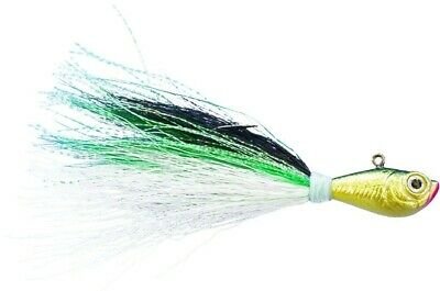 5 Pack Bucktail Jigs T/&A JIGS **LARGE FLARE** Color Weight Choice+Spro Swivel