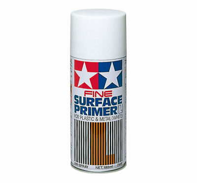 Tamiya 87044 Fine Surface Primer L for Plastic & Metal White (180 ml) modellismo