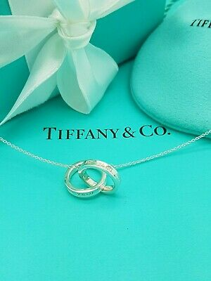 "Tiffany & Co. 1837 Interlocking Circles Sterling Silver 16"" Necklace RRP £285"