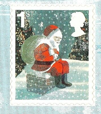 FATHER CHRISTMAS SNOWMAN STAMPS - 30 x 1st +30 x 2nd CLASS STAMPS - NEW & UNUSED