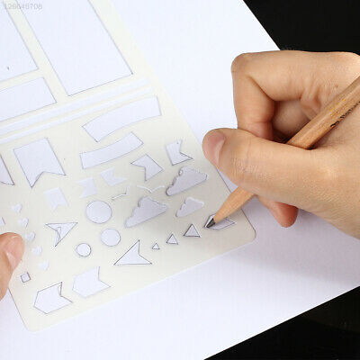 PP Stencils Scrapbooking Templates Drawing Sheets Background Stamp Paper Card