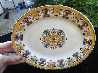 Antique Victorian Small Oval Serving Platter - Aesthetic Design