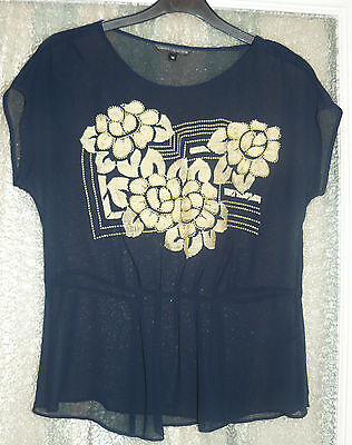 Marks and Spencer sheer top size 10 Never worn NWOT