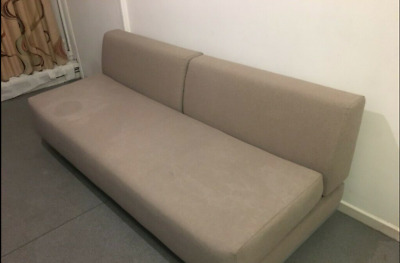 Enjoyable Muji 3 Seater T2 Double Sofa Bed Can Be Single Bed Cost Bralicious Painted Fabric Chair Ideas Braliciousco