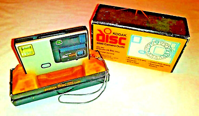Kodak Disc 4000 Camera Outfit with box and in Camera Film Built in Flash     #36