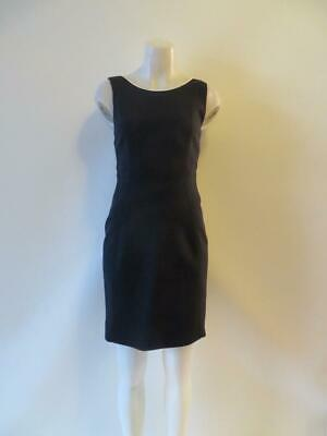 Womens Elie Tahari Navy Blue Sleeveless Sheath Dress Sz 6*