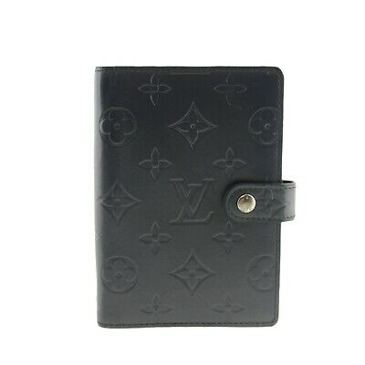 Authentic LOUIS VUITTON Agenda PM Navy Day Planner Cover Vernis R20935 #f29519