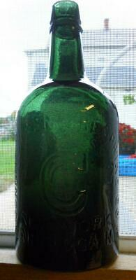 Dk Green Congress Empire Hotchkiss' Sons Saratoga NY Mineral Spring Water Bottle