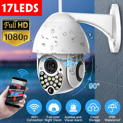 HD 1080P WIFI 2MP IP Camera PTZ Waterproof  Full-color Night Vision Outdoor  !