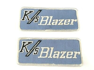 2 Rare Vintage Chevy K/5 Blazer Racing Embroidered Patches