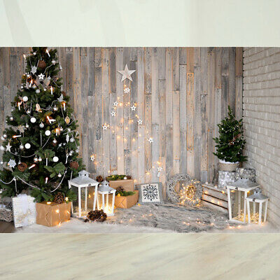 Christmas Tree Photography Backdrop Wall 3D Background for Festival 5x3ft (1831)