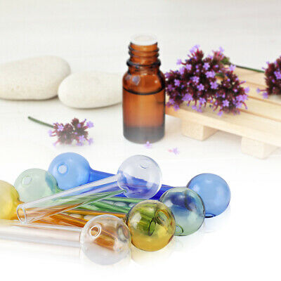 8Pcs Handmade Glass Oil Pipe Tubes Burner high temperature resistance Fragrance