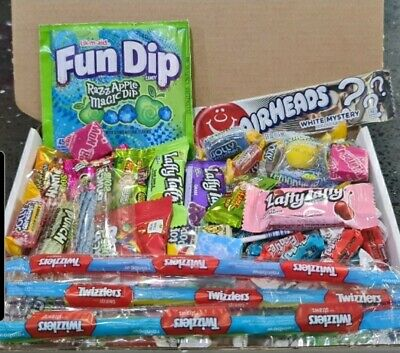 30 SWEETS Personalised American Gift Box USA Candy Hamper Birthday Airhead