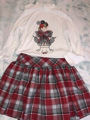 Beautiful Mayoral Girls Set (skirt and top) - Age 8 - Excellent Condition Xx