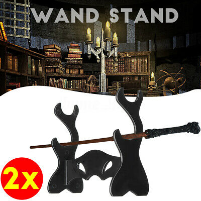 2X Black Wizarding Wand Display Stand For Potter/Voldemort Magic Wands 12.5CM AU