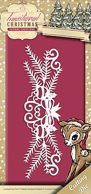 YVONNE CREATIONS ~ TRADITIONAL CHRISTMAS ~ HOLIDAY GARLAND ~ Stanzschablone