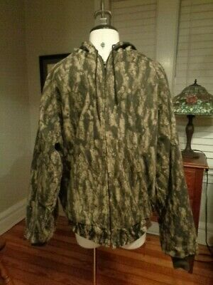 TIMBERGHOST Camouflage zip hooded hunting outdoor jacket men's L made in USA
