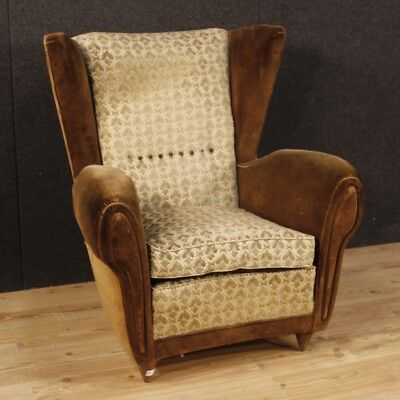 Armchair Design Italian Chair Furniture Style Gio Ponti Velvet Modernism 900
